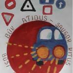 """plakatas  """"Eismo sugumas bendruomenėse 2015"""""""