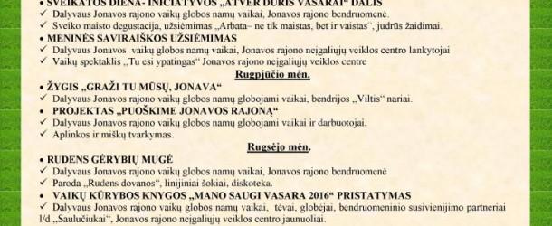 """Jonavos rajono vaikų globos namuose gyvenantys vaikai ir čia dirbantieji įkvėpti kampanijos ,,Už saugią Lietuvą"""", organizuoja šias veiklas:"""